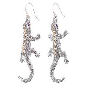 ALEXIS BITTAR • Crystal Encrusted Lizard Earrings